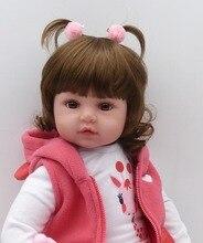 NPKCOLLECTION 48cm boneca reborn silicone reborn baby dolls com corpo de silicone menina baby dolls kids birthday Christmas gift