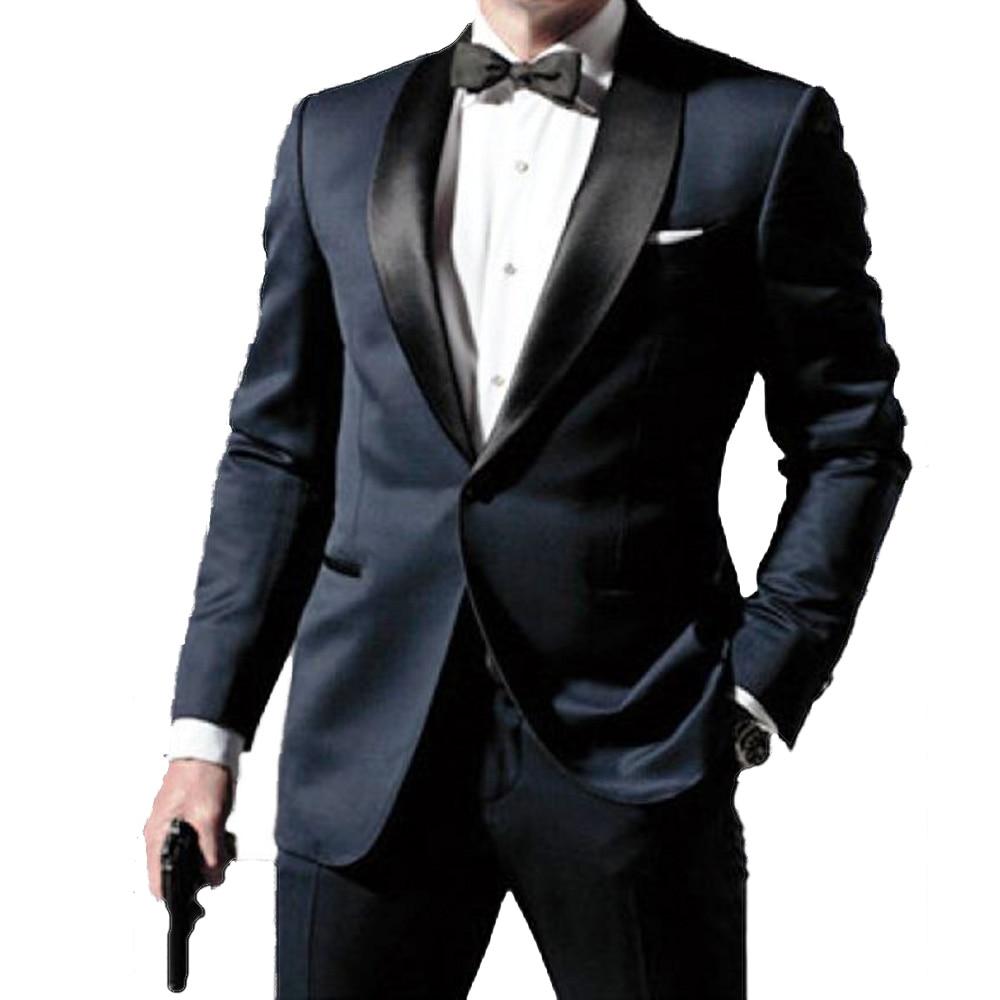 Men Wedding Suits 2018 Custom Made Slim Fit Groomsmen Notch Lapel Groom Tuxedos Light Grey Men
