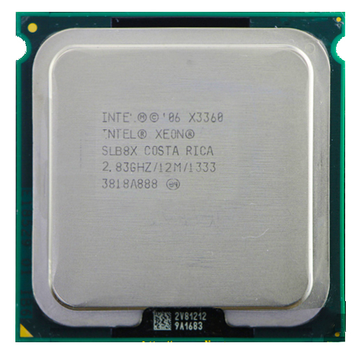 intel xeon X3360 Quad Core 2.83GHz LGA 775 95W 12M Cache Server CPU უფასო გადაზიდვა