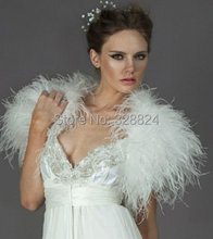 Beautiful trend fur waistcoat, ostrich feather waistcoat, banquet, wedding ceremony shawls