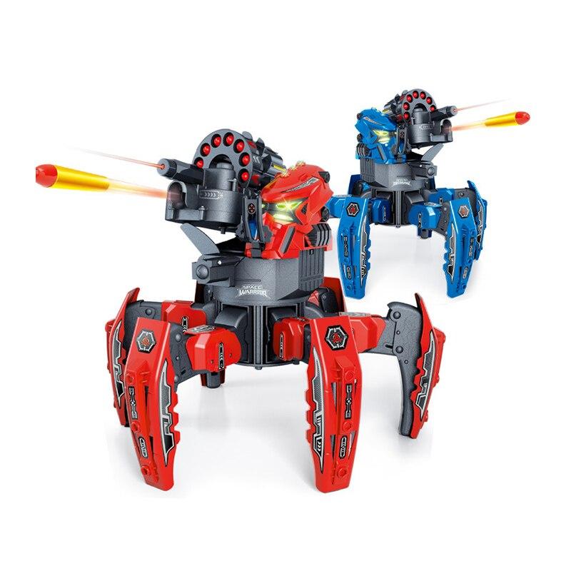 RC Robot Infrared Intelligent Animal Smart Robot Spider Walking Armor Warrior 6 Leg Launch Robot Electronic Model Toys Hobby