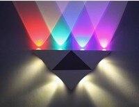 O triângulo lâmpada de DIODO EMISSOR de luz Luzes de parede TV lâmpada de parede de alumínio triângulo moda moderna atacado direto de fábrica