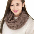 Fashion 2 Circle Cable Knit Scarf Women Winter Warm Scarves Infinity Cowl Neck Ring Solid Long Scarf Shawl for Women Ladies