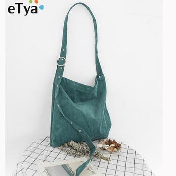 dbba45ab2036 Etya холст эко-регулируемый ремень складные сумки для покупок Повседневное плечо  сумка для школьников книги сумка Вместительная Экологичная..