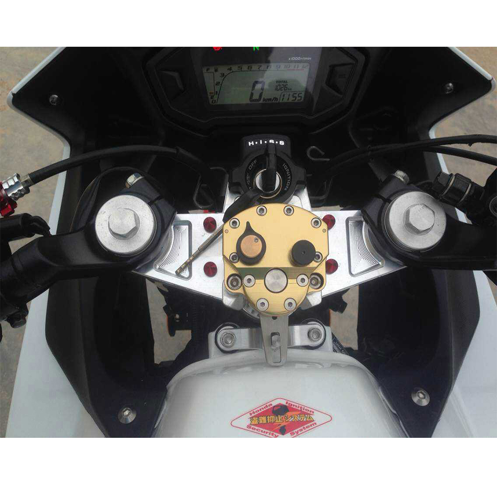 KEMiMOTO For Honda CBR500R 2013 2014 Motorcycle Accessories Steering Damper with Mounting Bracket Kit CBR 500R for ktm 200 duke 2013 2014 390 duke 2014 2015 2016 motorcycle accessories steering damper stabilizer with mounting bracket kit