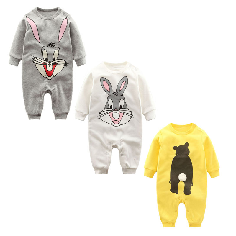 Fashion Autumn Winter infantil jumpsuit Newborn baby clothes Long sleeved print baby romper cotton baby Boys Girls clothes kids clothing 2017 autumn fashion baby boys girls romper unisex cotton long sleeve toddler jumpsuit newborn baby clothes
