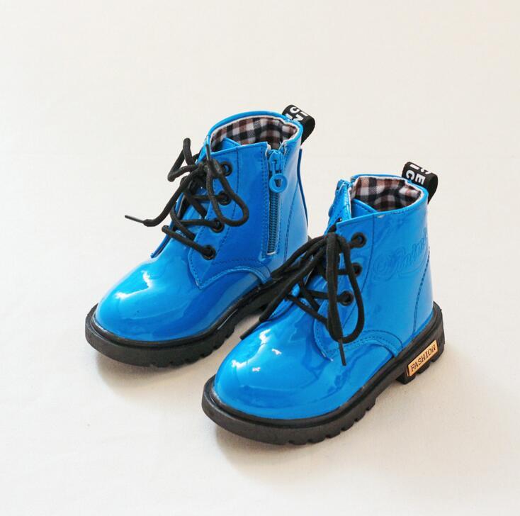Buty skórzane Qloblo dla dzieci Buty męskie Martin dla kobiet - Obuwie dziecięce - Zdjęcie 5