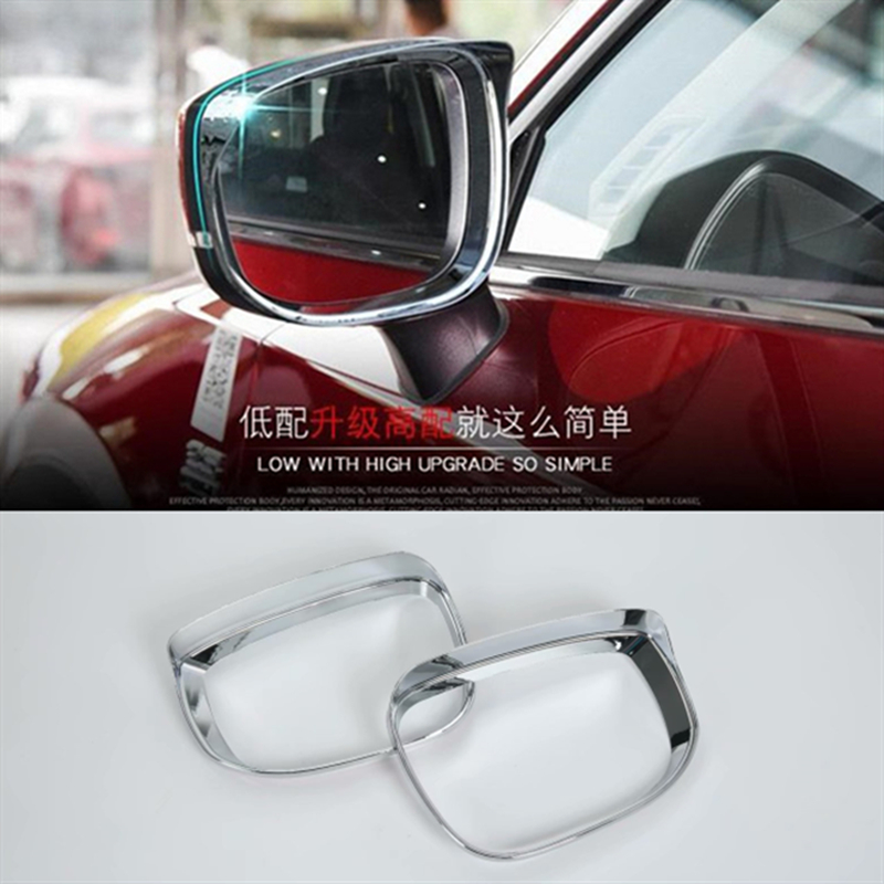 ABS Chrome For Mazda CX 8 CX 8 2018 2019 Car Styling Accessories Rearview Mirror Block Rain Eyebrow Cover Trim-in Awnings & Shelters from Automobiles & Motorcycles