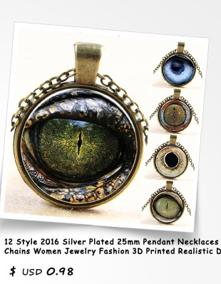 12-Style-2016-Silver-Plated-25mm-Pendant-Necklaces-Statement-Chains-Women-Jewelry-Fashion-3D-Printed-Realistic