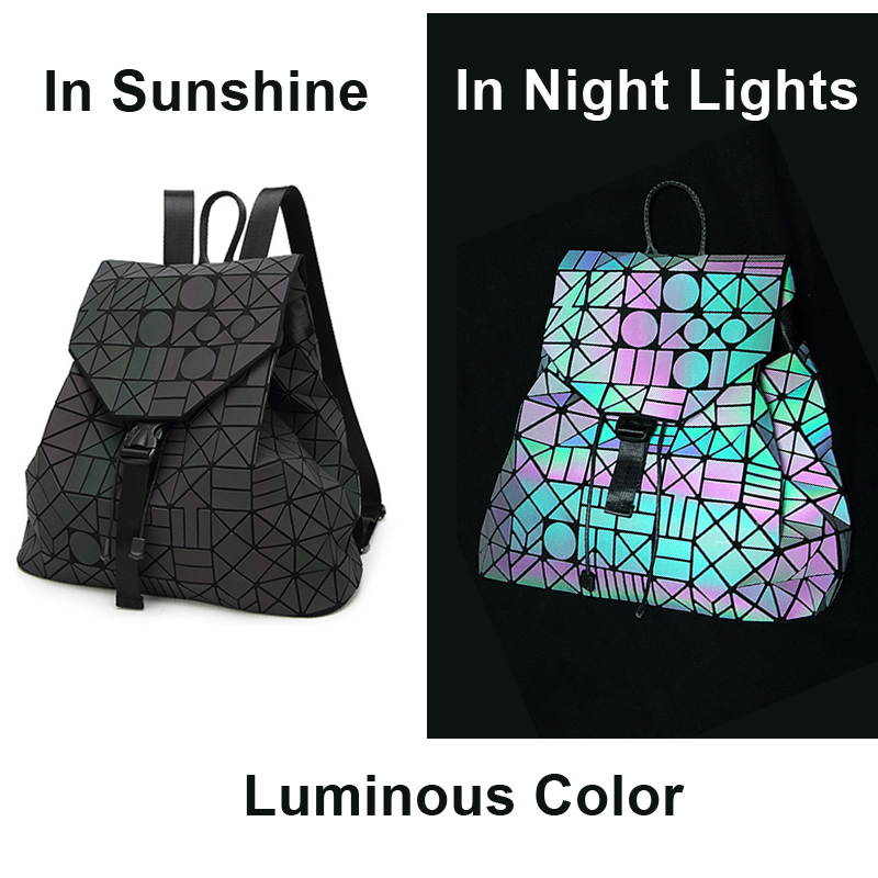 Holographic, Female, Backpack, School, Teenagers, Schoolbag