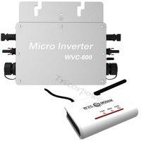 Waterproof IP65 Solar Grid Tie Micro Inverter 600W WVC600 Microinverter Inversor For On Grid Solar Power System Home
