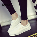 KALIWEI 2017 Spring Summer Women Student Movement White Canvas Casual Shoes Woman Lazy Low Nurse Shoe Lovers