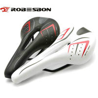 ROBESBON HOT SALE Bicycle Saddle Ultralight Road Bike Cushion Hollow Design Leather Mountain Bike Seat MTB
