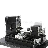 110 V/220 V CNC Mini torno máquina CNC torno máquina con placa de torno de Metal Área de banco de trabajo 90 * 90mm 12000r/min