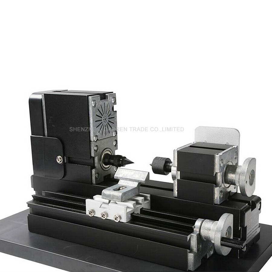 110V/220V CNC Mini Lathe Machine CNC Lathe Machine With Metal Lathe Plate Workbench Area 90*90mm 12000r/min
