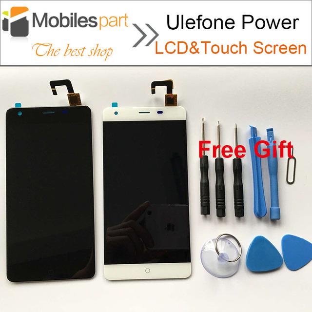 Ulefone Potencia Pantalla 100% de Visualización Original del LCD + Reemplazo de la Pantalla Táctil de Pantalla Para Poder Ulefone Smartphone de 5.5 pulgadas