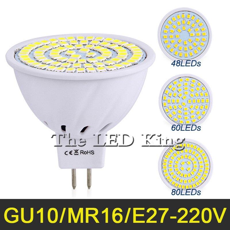 GU10 220V LED Spotlight Lamp MR16 E27 2835 Led Bulb GU 10 110V 12W ...