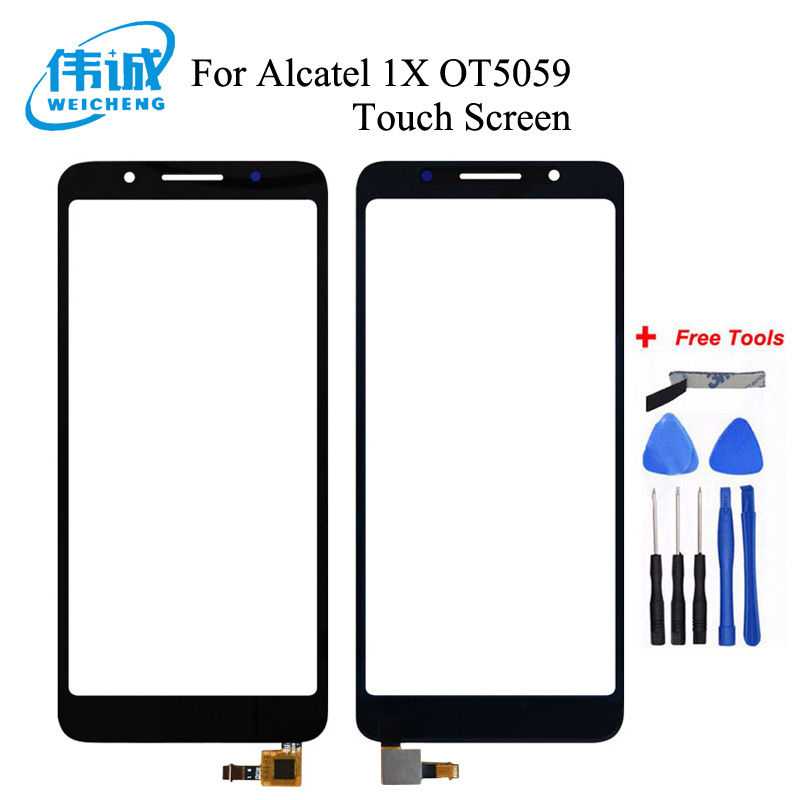 Top Quality For Alcatel 1X 5059D 5059A 5059I 5059X 5059Y OT5059 5059 Touch Screen Digitizer Digitizer Glass Panel Replacement