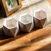 Geometric concrete flower pot mold customized design concrete container mold