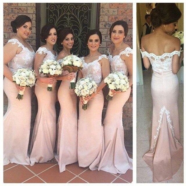 2d19742b02 Pink Encanto Caped Manga Larga de Damas de Honor Vestidos Con Encaje 2017  Nuevo Tamaño Más