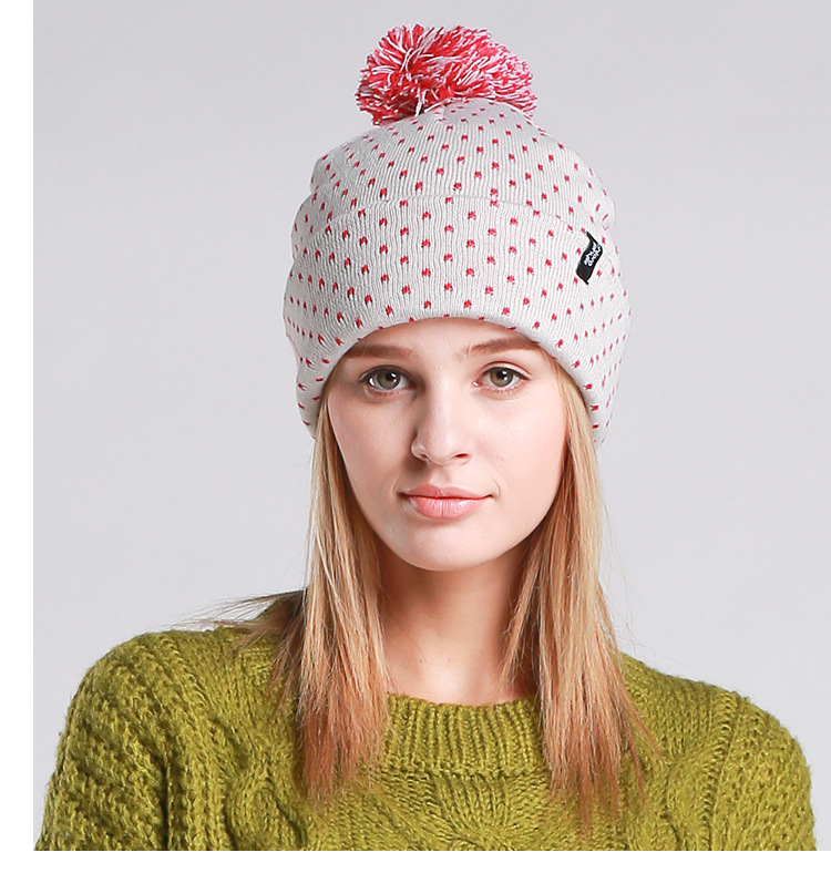 a7edff40815 Winter Beanie Hats for Female Caps Beanies Pompom with Top Ball ...
