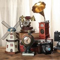 ALONG Vintage Home Decor Ornaments DIY Mini House Retro Building Fairy Garden Figurines Miniatures Decoration