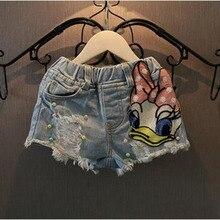 Прикреплена корейских блестки печатных модные летние новых ткань джинсы шорты девушки