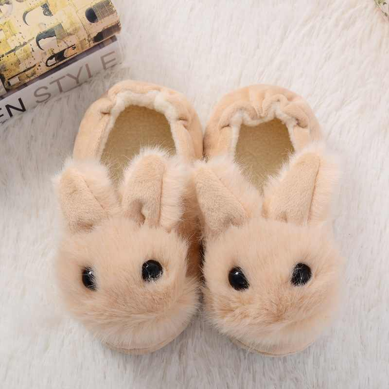 Bodensee ילדים כותנה כפכפים בית נעלי בית בני בנות חמוד קריקטורה ארנב ריהוט בית כותנה נעלי בית בחדר השינה