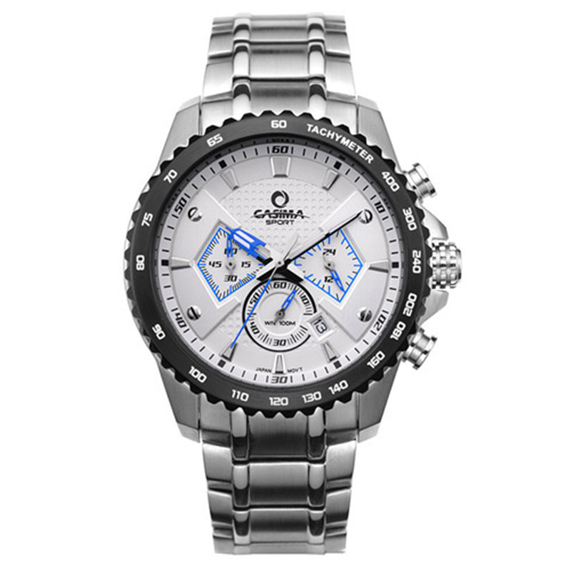Men quartz-watch sports Luxury fashion luminous calculagraph stopwatch waterproof 100m Wrist watches CASIMA  #8103
