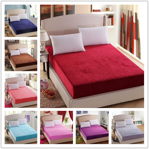 Soft Flannel Mattress Protective Cover Mattress Cover Mattress Protection Pad Fitted Sheet Single Double Size
