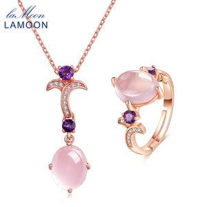 LAMOON Women's Ring Necklace S