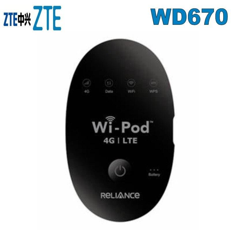 ZTE WD670 4G LTE 850 1800 2300 MHZ Router Hotspot 31 Users USA Latin Euro