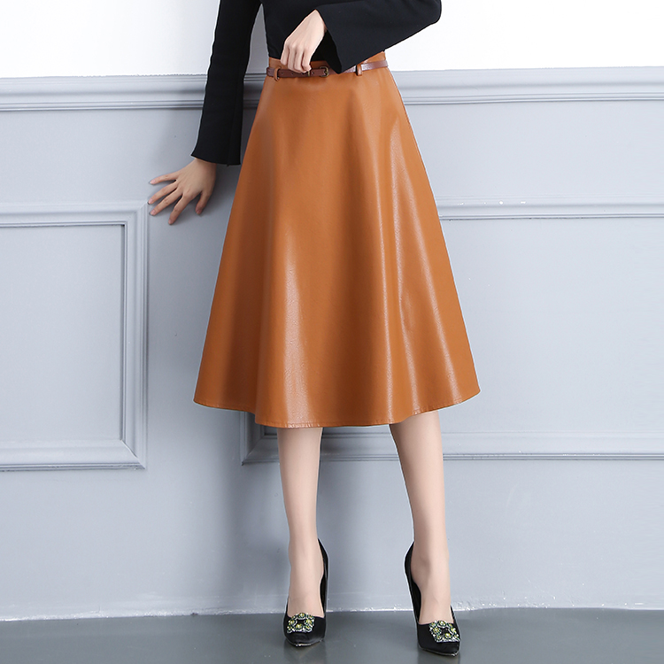 6f7a9837c66 KoHuiJoo Plus Size Winter PU Leather Skirt Women Casual Faux Leather Skirts  ...