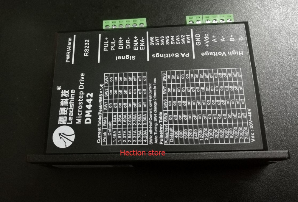 Wholesale 6 pcs a lot Leadshine Digital Stepper Motor Drive DM442 work with nema23 stepper motor based on the DSP High stability 2pcs lot leadshine 2 phase high precision stepper drive am882