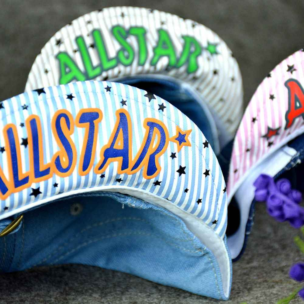 ead9dca3706 ... Kids Boys Baseball Cap Summer Toddler Children Dad Hat Jean Casual Hip  Hop Letter Denim Sun ...