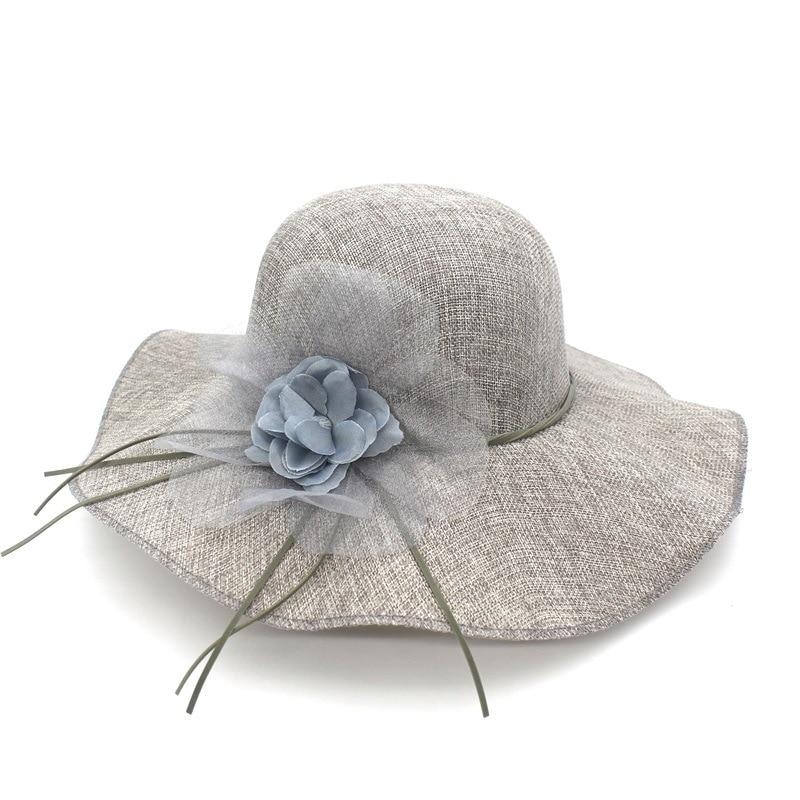 Summer fashion floral cotone respirare sun cappello per le donne