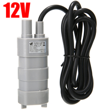12V 5M 600L/H Submersible Grey Water Pump High Flow For Fish Tank Pond Fountain Change Water Pump Portable 390mm cylinder water tank sc600 pump all in one set maximum flow 600l h computer water cooling radiator