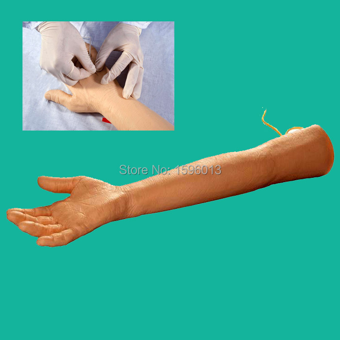 Elder Venipuncture Arm Model, Elder IV arm training model, InjectionTraining arm economic injectable training arm model with infusion stand iv arm injection teaching model