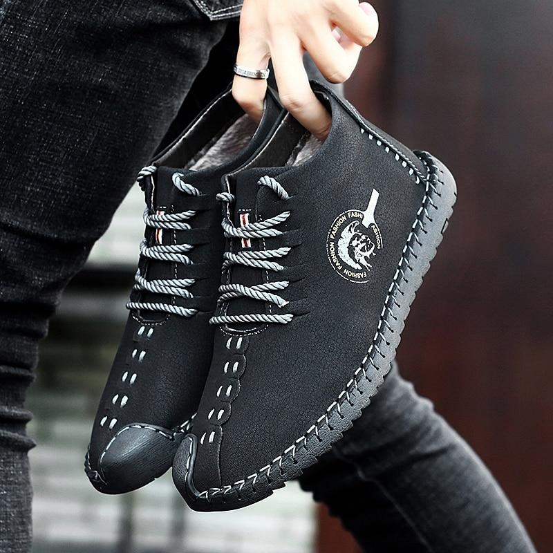 Marche Cuir À Confortable Main En Noir Bateau Hommes Mocassins Chaussures Ciel Lacets Appartements Décontractées pu De D'été bleu x8ddErqYw