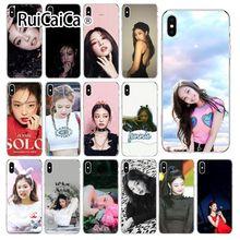 Ruicaica BlackPink Jennie Custom Photo Soft Phone Case for Apple iPhone 8 7 6 6S Plus X XS MAX 5 5S SE XR Cover