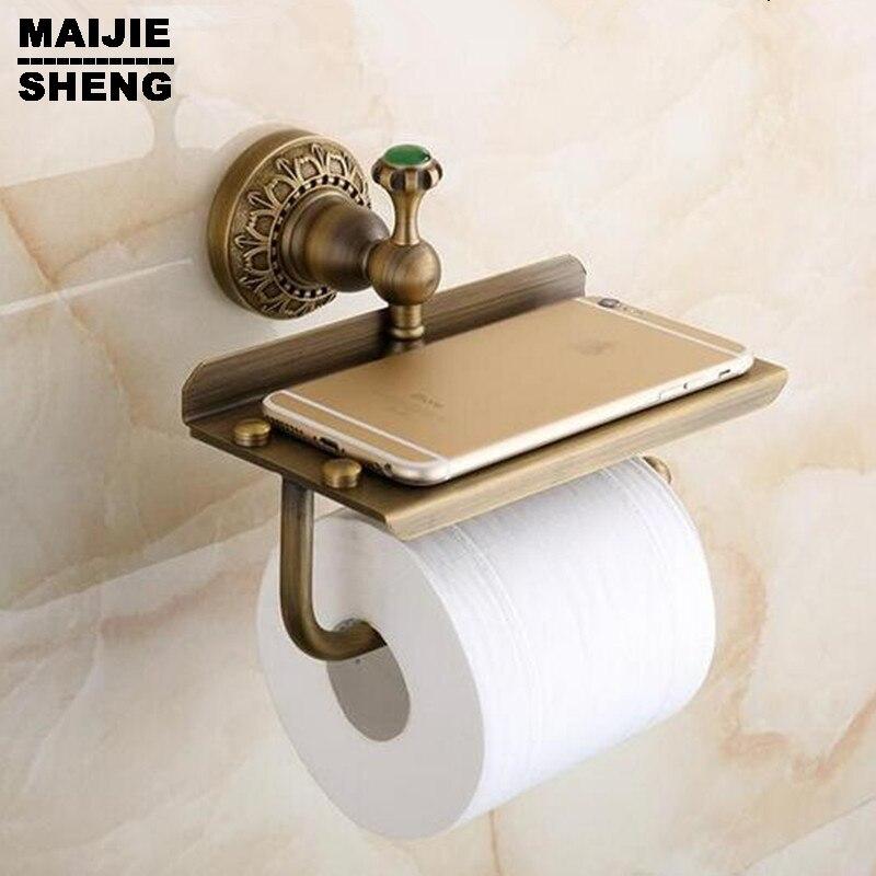 Mobile phones towel rack toilet paper holder tissue boxes Antique brass  bathroom paper phone holder with. Popular Bathroom Phone Holder Buy Cheap Bathroom Phone Holder lots
