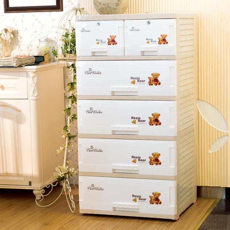 Large thick plastic baby wardrobe lockers children drawer storage ...