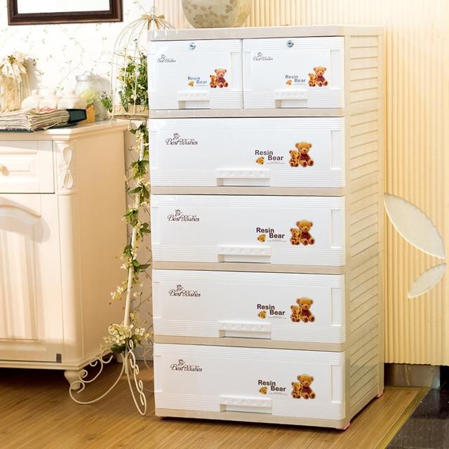 Large Thick Plastic Baby Wardrobe Lockers Children Drawer Storage Cabinets  Wardrobe Cabinet Finishing Baby Shoe
