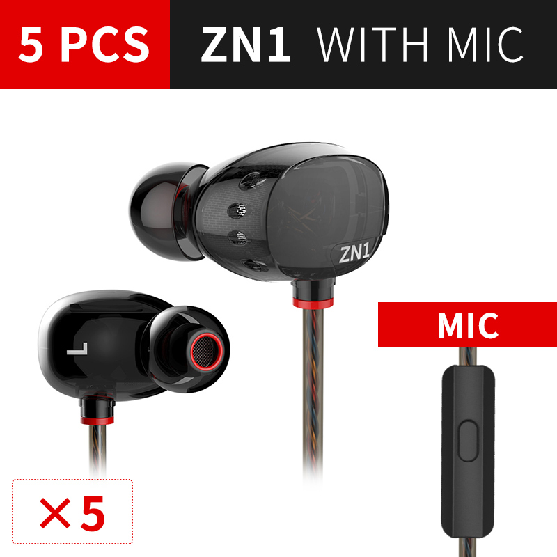 5PC ZN1 Original 3.5mm in Ear Earphones With Microphone HIFI Stereo Earphones Bass Noise Isolating fone de ouvido for iphones original qkz dm200 in ear earphones original hifi headset stereo sport earphone super bass noise canceling hifi fone de ouvido