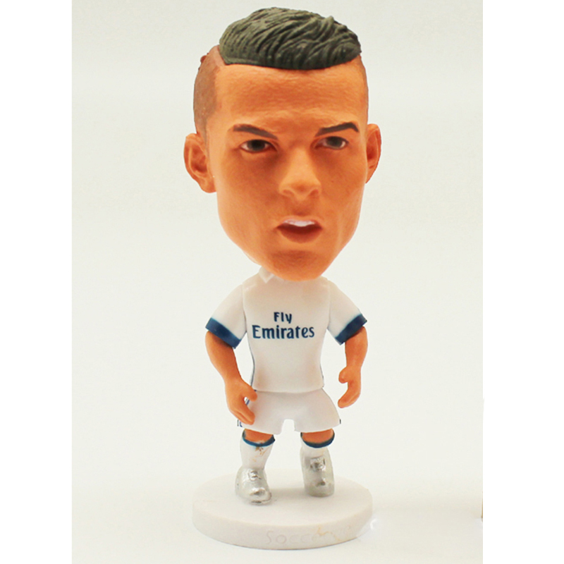 """1pcs Real Madri Barca Football star dolls Soccer Player Star Cristiano Ronaldo Lionel Messi 2.5"""" Action Dolls Figurine Toy Gift"""