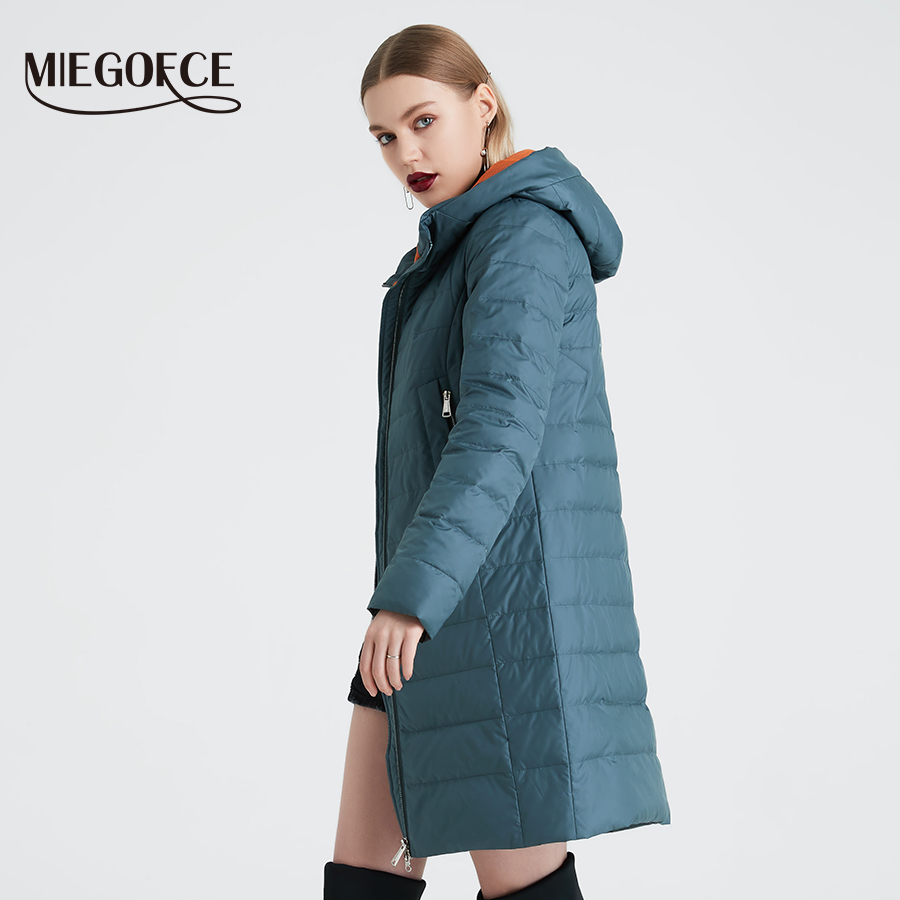Image 3 - MIEGOFCE 2019 Spring and Autumn Women's Coat Cotton Windproof Hat Women Windbreaker Fashion Thin Section Female Coat New Design-in Parkas from Women's Clothing
