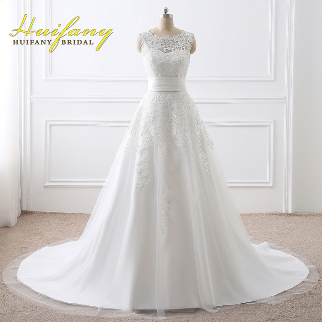HUIFANY New Designer Wedding Dress A Line Wedding Dress 2017 vintage ...