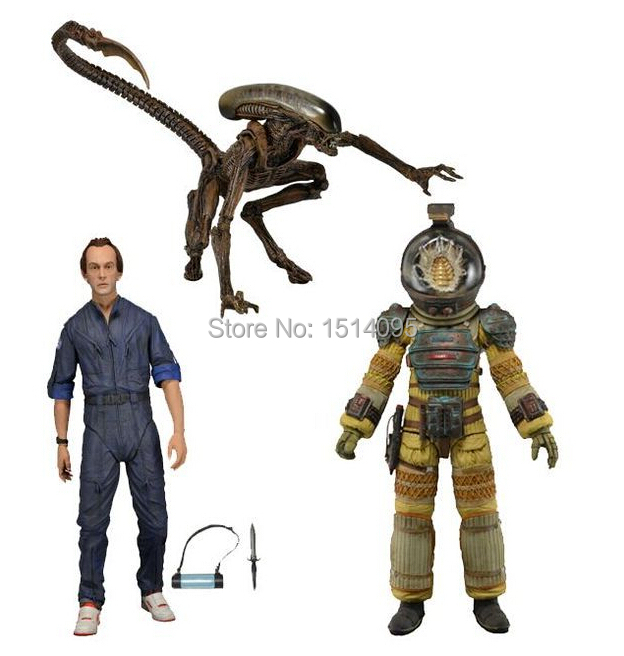 NECA Aliens KANE DOG ALIEN BISHOP PVC Action Figure Collection Model Toy 7 18CM neca planet of the apes gorilla soldier pvc action figure collectible toy 8 20cm