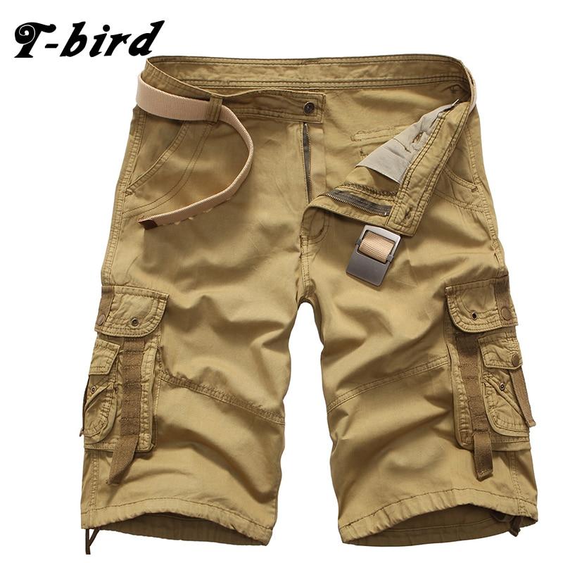 T-bird Shorts Men Casual Bermuda Masculina Brand High Quality Compression Male Cargo Shorts Men Fashion Summer Men Short 29-38