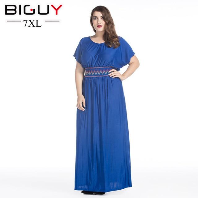 8b21e4f93bae3b Damska maxi dress 2017 duże rozmiary boho chic niebieski czarny długie  sukienki na co dzień z